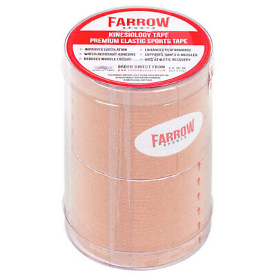 Farrow Sports 2 Rolls Skin Kinesiology Strapping Tape 50mm x 5m Muscle Support
