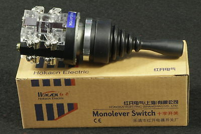 Monolever Joystick Switch 380V HKA1-41Y04 Latching AC 15A 4NO 4 Position 15 Amp