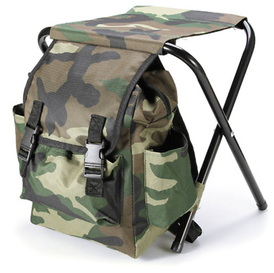 Fishing Chair Backpack Camping Folding Stool Seat Outdoor Hiking Bag Portable