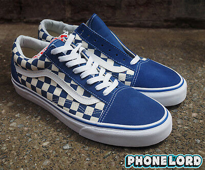 Vans old stool school Primary Check Blue/Checkered checkerboard checked 9 10 11