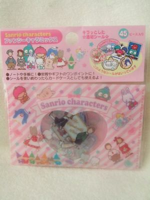 Sanrio Character  Sticker pack NEW 45pcs 1980 pink with case