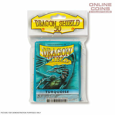 DRAGON SHIELD - Classic Standard Card Sleeves TURQUOISE Pack of 50 #AT-10115