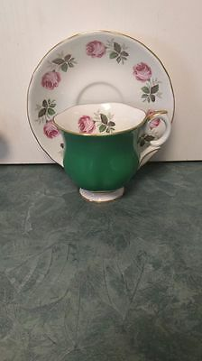 Fine Bone China Crown Est. 1801 Staffordshire England Teacup and Saucer Set
