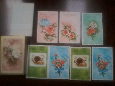 7 Vintage Boxed Birthday Cards