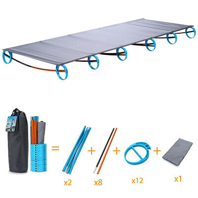 Ultralight Portable Folding Camping Cot Aluminium Alloy Off Ground Foldable Bed