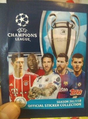 2017/2018 Champions   League  10 Promotion Packs 50 Stickers Best Price Topps Uk