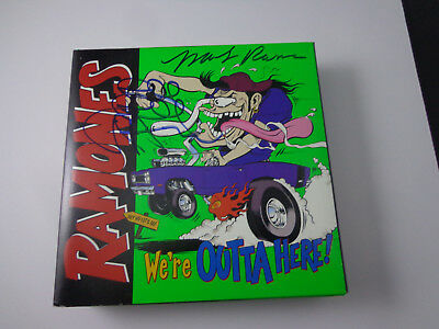 a/    the RAMONES AUTOGRAPHED 'OUTTA HERE' CD/VIDEO BOX SET 6 members