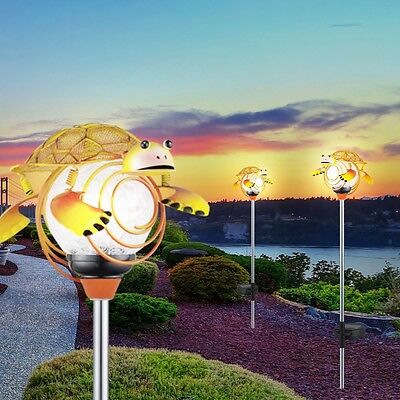 Set of 2 LED Solar Lights Battery Outdoor Spotlight Ground Spike PLUG-IN LAMPS