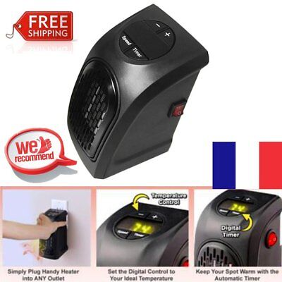 Handy Heater Electric 350 Watts Wall Outlet Plug In Compact Ceramic Portable