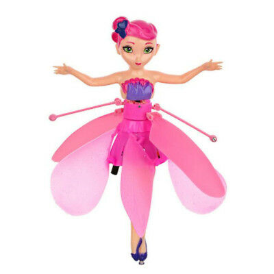 Flying Fairy Flutterbye Flower Fairy Doll Girls Interactive Toy Perfect Gift