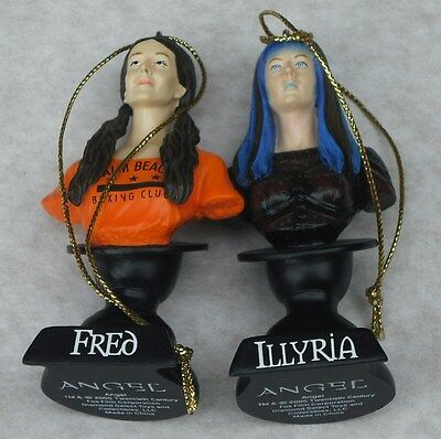 Buffy The Vampire Slayer Angel Ornaments Fred & Illyria New