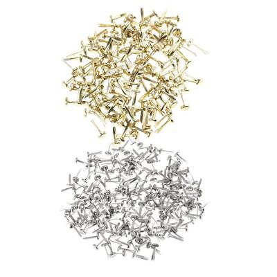 400pcs Split Pins Brads Paper Fasteners for Scrapbooking Embellishment Craft