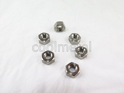 6pcs Titanium Hex Nut M6 Ti gr5 Hex Nut No rust