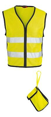 IXS Neon II Motorcycle High Visibility Reflective Vest Yellow Black Size M/L
