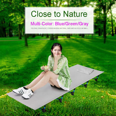 Folding Camping Cot Aluminium Alloy Off Ground Foldable Bed with Pillow Case