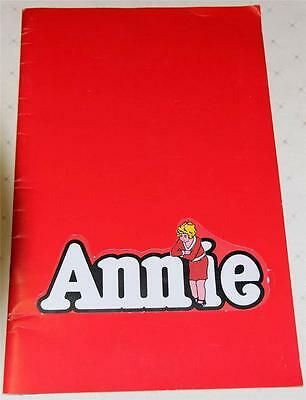 Annie 1980 Adelaide Australia Souvenir Theatre Program  Ansett Advert- Excellent