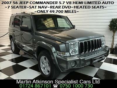 2007 56 Jeep Commander 5.7 V8 Hemi Limited 7 Seater Automatic