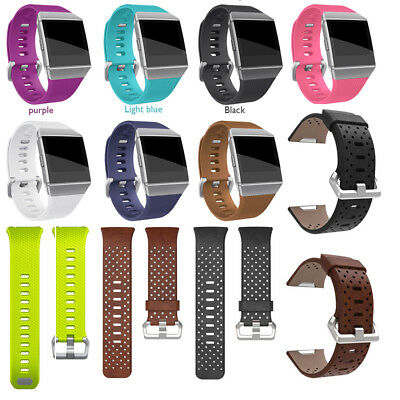 For Fitbit Ionic Silicone Watch Band Strap Perforated Leather Bracelet Watchband