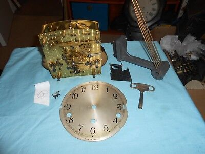 Original Vintage GARRARD GRANDMOTHER Clock Movement , Working PENDULUM MISSING.