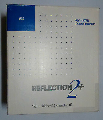 Reflections 2+ for DOS - Terminal Emulator Program - a must for comms & unix eng