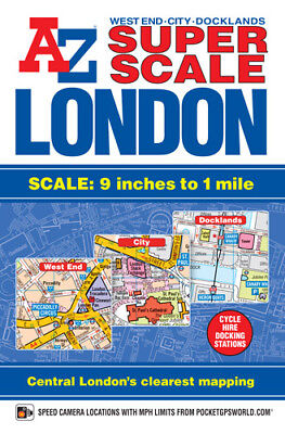 A-Z Super Scale London Street Atlas (Paperback, 2014)