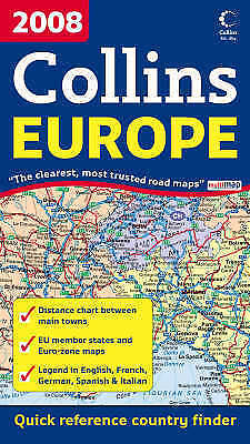 """""""VERY GOOD"""" International Road Map - 2008 Map of Europe, Not Known, Book"""