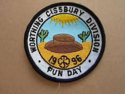 Worthing Cissbury Fun Day 1996 Girl Guides Cloth Patch Badge (L4K)