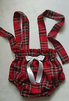 Beautiful Tartan Print Baby's Bloomer  girls clothes New