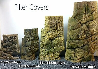 Filter Or Heater Cover Matches Background For Aquarium Fish Tank Decoration