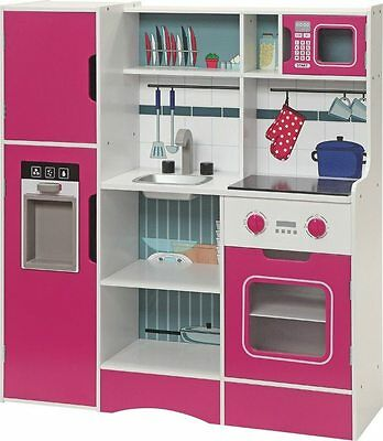 Kitchen for children in wood Head chef Complete appliances