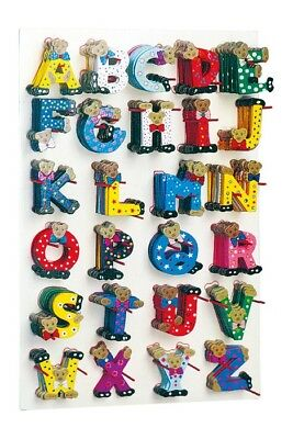 display display letters alphabet ABC wooden