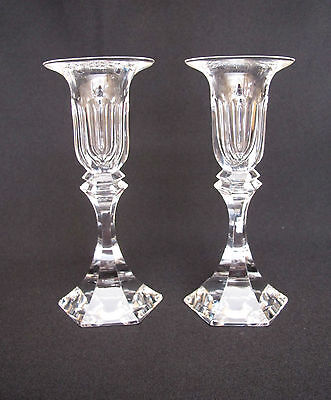 Pair of Candle Holders Crystal St. Louis France (# 340)