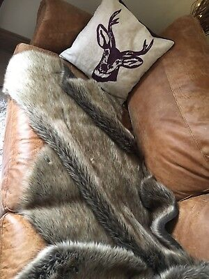 X Large Faux Fur Skins/Throws/Rugs - 160cm x 80cm. Events, Wedding, Teepee
