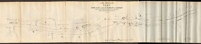 1870  Antique Map - Clyde Docks, Glasgow, Contemplated Improvements