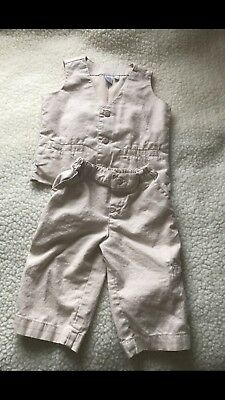 Pre-owned/ Boys Clothes/3-6 Month/Waistcoat & Trousers/formal Clothes/b2 Rrp £15