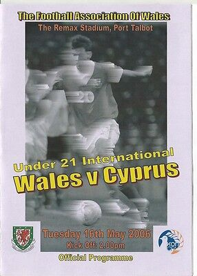 WALES v CYPRUS  2006  Under 21s