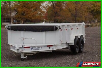 "IN STOCK 14' HD Low Pro DumpTrailer 32"" Sides Tongue Box Tarp Ramps"