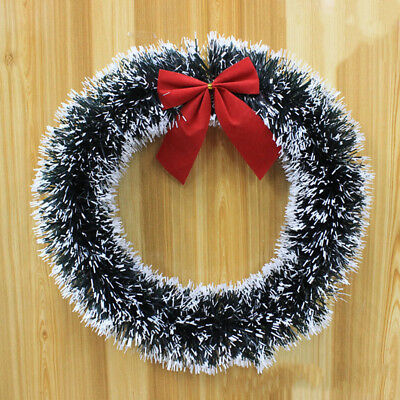 Christmas Wreath Door Wall Ornaments Garland Red Bowknot Decor Large 30/35cm