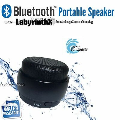 ● E-Wave Bluetooth 3.0 Speaker ● Water Resistant With LabyrinthX - See Video