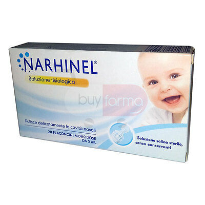 THE NARHINEL - Solution Physiological from 20 Vials - CLEANS the HOLLOW' NASAL