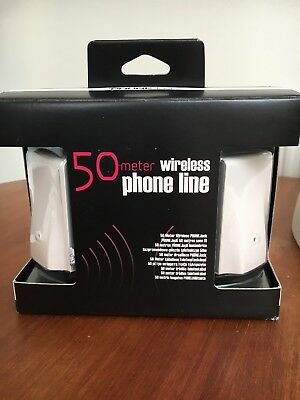 NEW RTX 50 Meter Wireless Phone Line Jack Base & Extension Unit