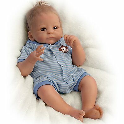 Ashton Drake BENJAMIN So Truly Real baby boy doll by Tasha Edenholm - LAST ONE