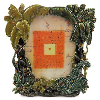 Small picture frame with palm trees and rhinestone accents PF43