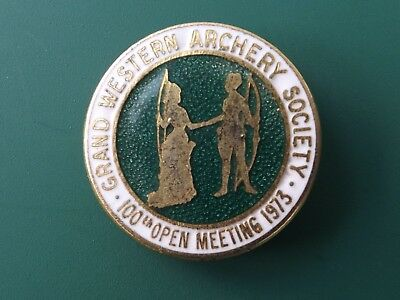 Grand Western Archery Society Badge - 100 Open Meeting 1973