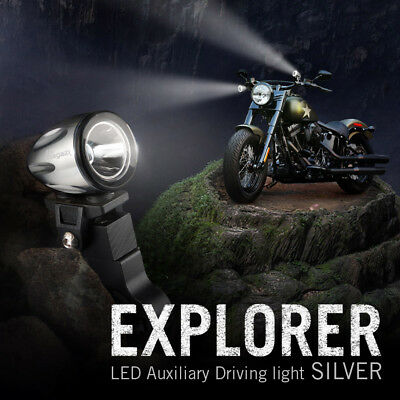 "moto scooter 1.6"" back up lampe LED mini spot waterproof d'argent x1"