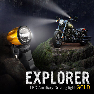 mini LED lampe spot feu de route d'or 22-25mm diameter tube pour Kawasaki KTM