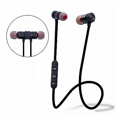 Bluetooth Sport Kopfhörer Headset In Ear Wireless Ohrhörer Magnetverschluss+Mik