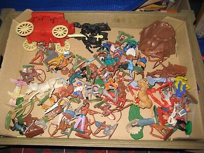 Vintage Plastic Toy Cowboys And Indians