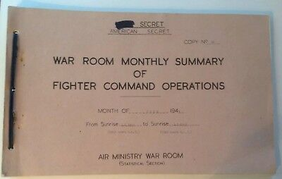WWII AIR MINISTRY WAR ROOM SUMMARY FOR JUNE 1943 (original).