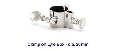Brass-Fix Uk Clamp On Lyre Box For Tuba Or Euphonium with 20mm diameter tubing.